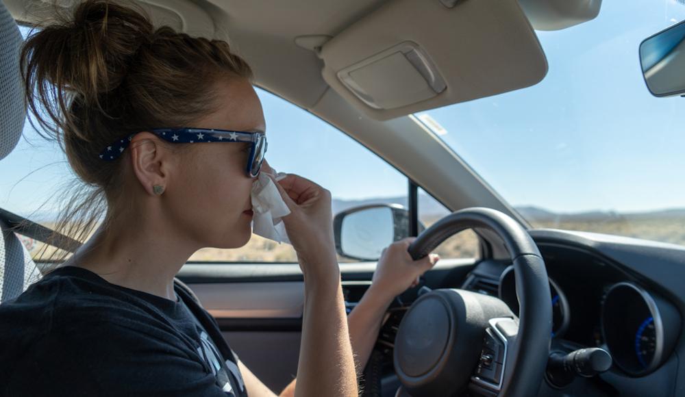 Qué hacer para que la alergia no te impida conducir