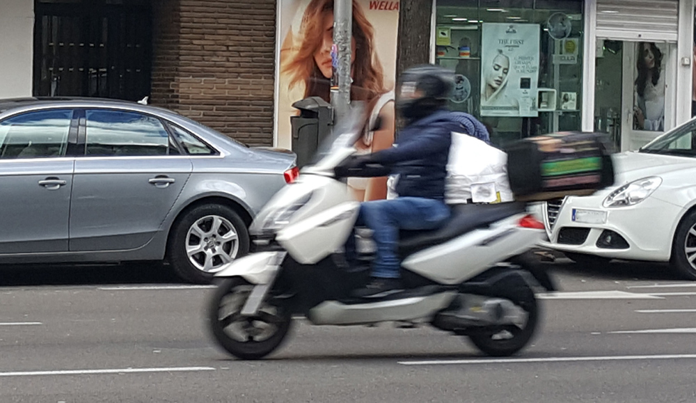 El 29 % de los motoristas accidentados con moto de 125 conduce con carné B