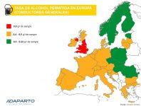 Tasa de alcohol Europa